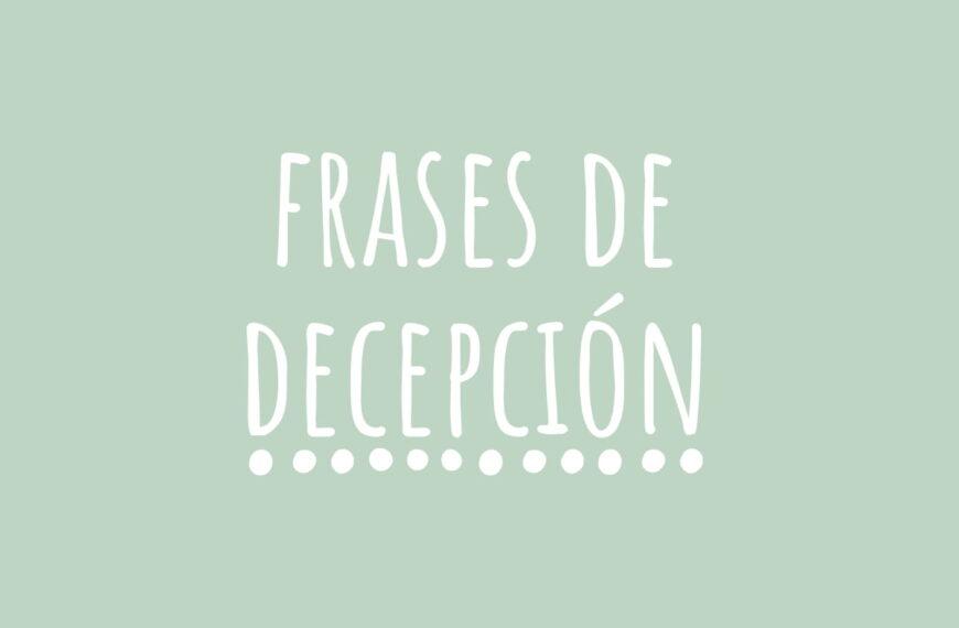Frases de Decepción